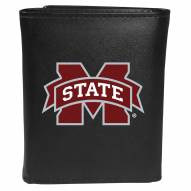 Mississippi State Bulldogs Large Logo Leather Tri-fold Wallet