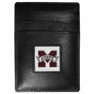 Mississippi State Bulldogs Leather Money Clip/Cardholder in Gift Box