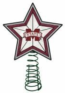Mississippi State Bulldogs Light Up Art Glass Tree Topper