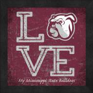 Mississippi State Bulldogs Love My Team Color Wall Decor