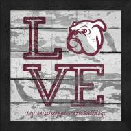 Mississippi State Bulldogs Love My Team Square Wall Decor