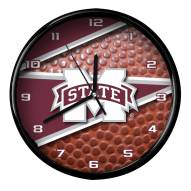 Mississippi State Bulldogs Football Clock