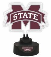 Mississippi State Bulldogs Team Logo Neon Light