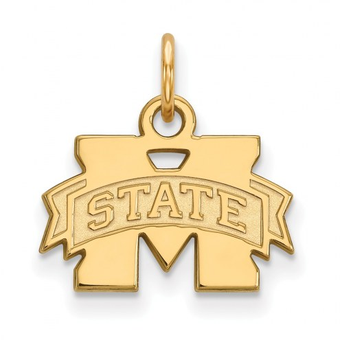 Mississippi State Bulldogs NCAA Sterling Silver Gold Plated Extra Small Pendant
