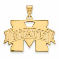 Mississippi State Bulldogs NCAA Sterling Silver Gold Plated Large Pendant