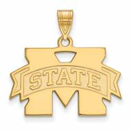 Mississippi State Bulldogs NCAA Sterling Silver Gold Plated Medium Pendant