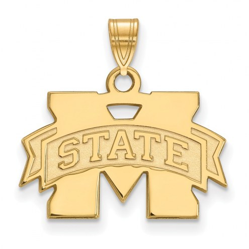 Mississippi State Bulldogs NCAA Sterling Silver Gold Plated Small Pendant