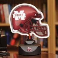 Mississippi State Bulldogs Neon Helmet Desk Lamp