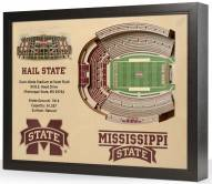 Mississippi State Bulldogs 25-Layer StadiumViews 3D Wall Art