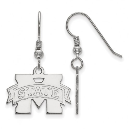 Mississippi State Bulldogs Sterling Silver Small Dangle Earrings