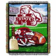 Mississippi State Bulldogs NCAA Woven Tapestry Throw / Blanket