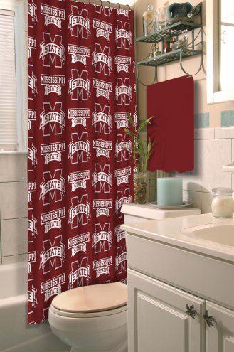 Mississippi State Bulldogs Shower Curtain