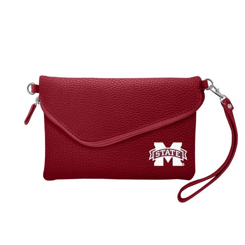 Mississippi State Bulldogs Pebble Fold Over Purse