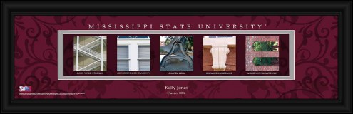 Mississippi State Bulldogs Personalized Campus Letter Art