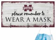 Mississippi State Bulldogs Please Wear Your Mask Sign