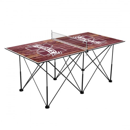Mississippi State Bulldogs Pop Up 6' Ping Pong Table