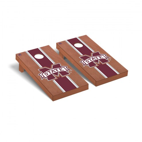 Mississippi State Bulldogs Rosewood Stained Cornhole Game Set