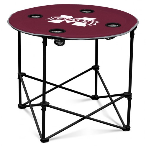 Mississippi State Bulldogs Round Folding Table