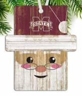 Mississippi State Bulldogs Santa Ornament