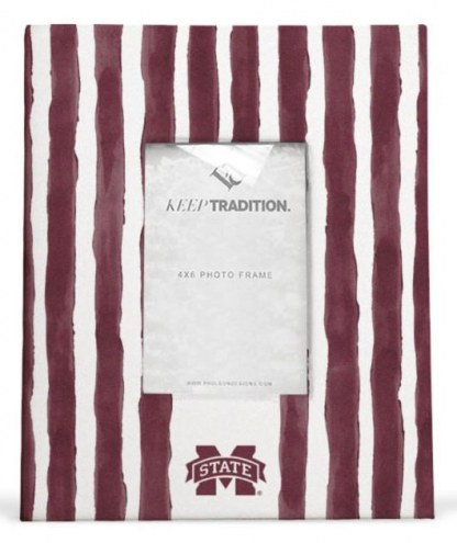 Mississippi State Bulldogs School Stripes Picture Frame