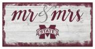 Mississippi State Bulldogs Script Mr. & Mrs. Sign