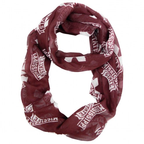 Mississippi State Bulldogs Sheer Infinity Scarf