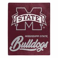 Mississippi State Bulldogs Signature Raschel Throw Blanket