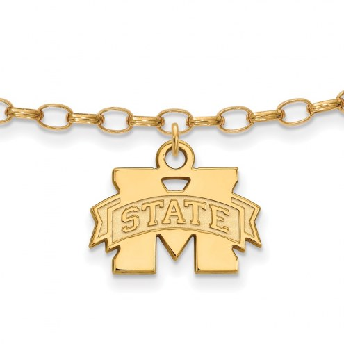 Mississippi State Bulldogs Sterling Silver Anklet