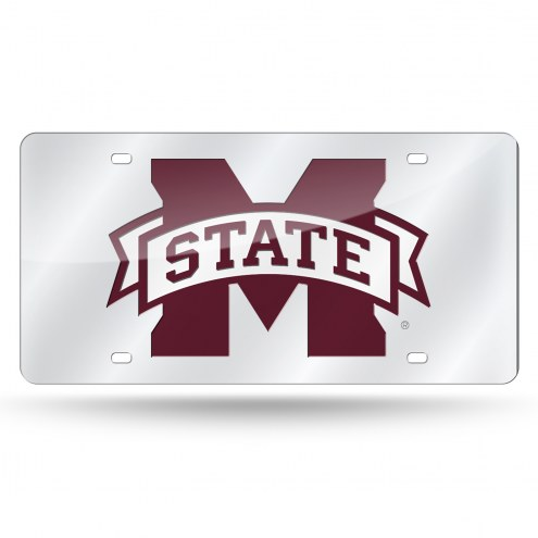 Mississippi State Bulldogs Silver Laser License Plate