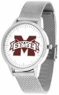 Mississippi State Bulldogs Silver Mesh Statement Watch