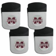 Mississippi State Bulldogs 4 Pack Chip Clip Magnet with Bottle Opener