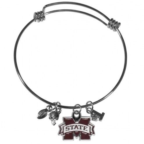 Mississippi State Bulldogs Charm Bangle Bracelet