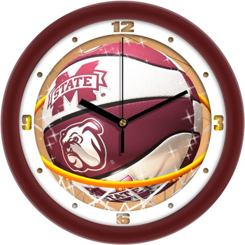 Mississippi State Bulldogs Slam Dunk Wall Clock