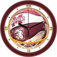 Mississippi State Bulldogs Slam Dunk Wall Clock