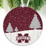 Mississippi State Bulldogs Snow Scene Ornament