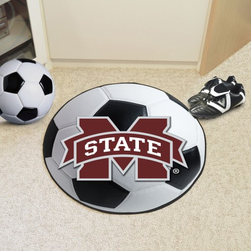 Mississippi State Bulldogs Soccer Ball Mat