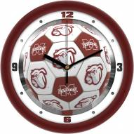 Mississippi State Bulldogs Soccer Wall Clock