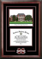 Mississippi State Bulldogs Spirit Diploma Frame with Campus Image