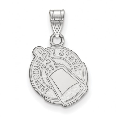 Mississippi State Bulldogs Sterling Silver Small Pendant