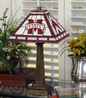 Mississippi State Bulldogs Stained Glass Mission Table Lamp
