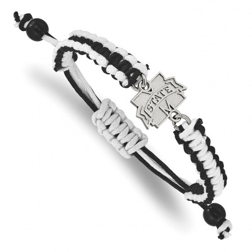 Mississippi State Bulldogs Stainless Steel Adjustable Cord Bracelet