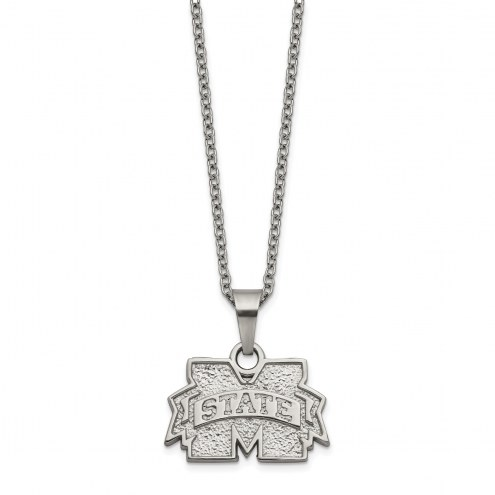 Mississippi State Bulldogs Stainless Steel Pendant Necklace