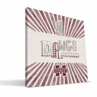 Mississippi State Bulldogs State Canvas Print