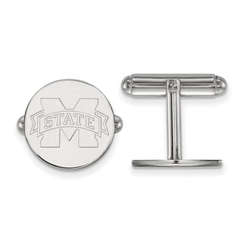 Mississippi State Bulldogs Sterling Silver Cuff Links