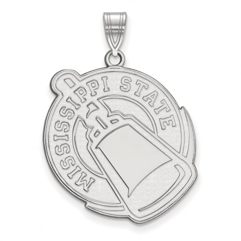 Mississippi State Bulldogs Sterling Silver Extra Large Pendant