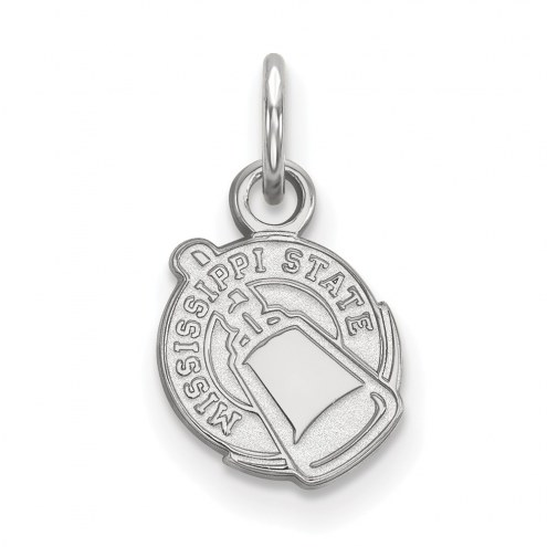 Mississippi State Bulldogs Sterling Silver Extra Small Pendant