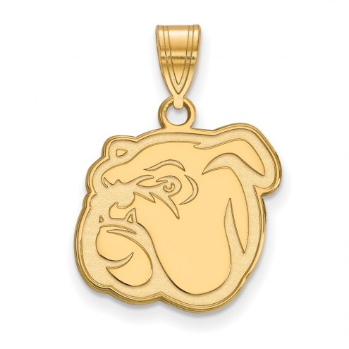 Mississippi State Bulldogs Sterling Silver Gold Plated Medium Pendant