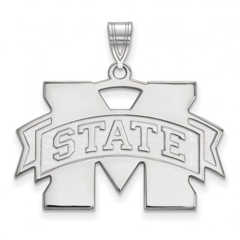 Mississippi State Bulldogs Sterling Silver Large Pendant