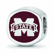 Mississippi State Bulldogs Sterling Silver Logo Bead