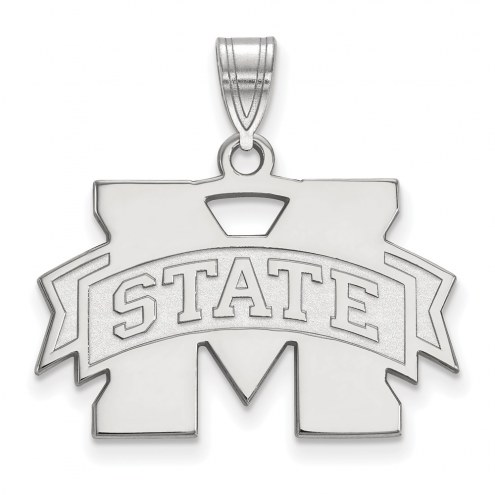 Mississippi State Bulldogs Sterling Silver Medium Pendant